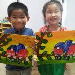Preschool painting activities at KidzArt